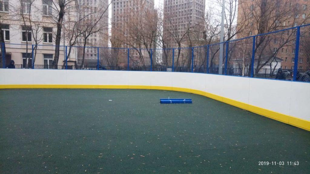 Москва, ул. Берзарина — Хоккейная коробка