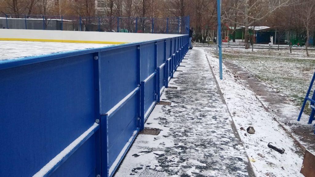 Москва, Новочеркавский бульвар — Хоккейная коробка