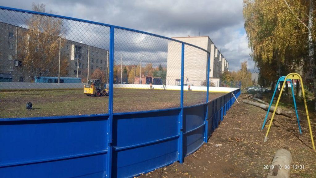 Деревня Алексино — Хоккейная коробка