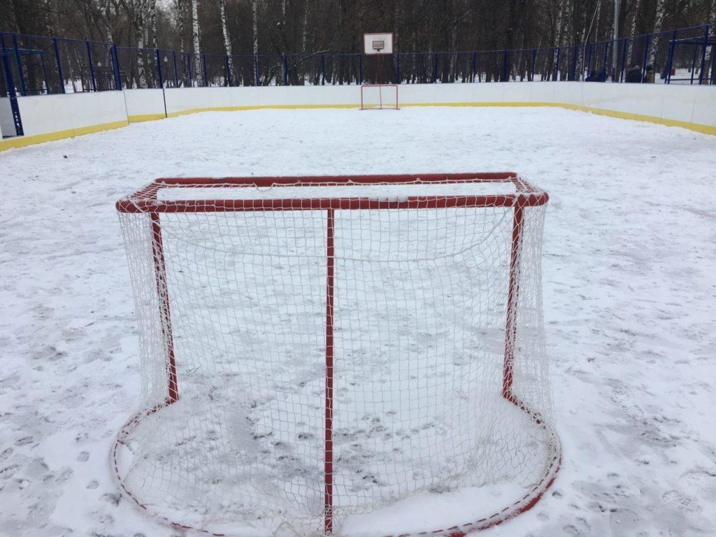 Москва, парк Берёзовая Роща — Хоккейная коробка